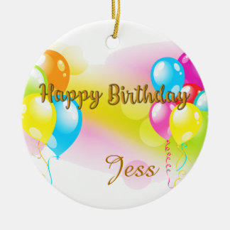Colorful Birthday Christmas Ornament