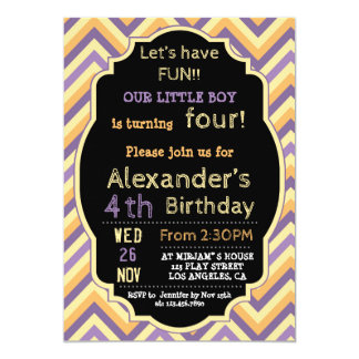 COLORFUL BIRTHDAY INVITATION FOR BOYS IN ANY AGE