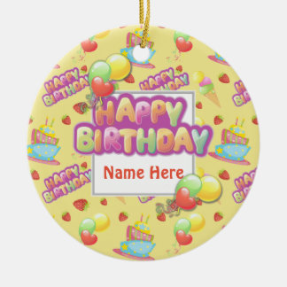Colorful Birthday Sweets Christmas Ornament