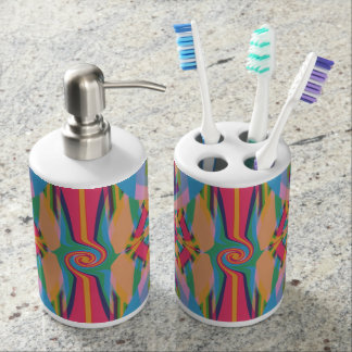 Colorful Bizarre Bathroom Set