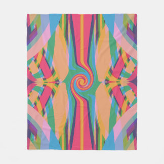 Colorful Bizarre Fleece Blanket