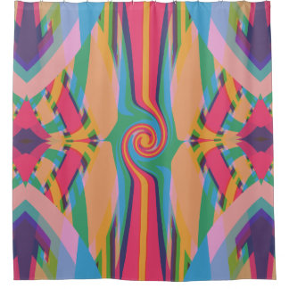 Colorful Bizarre Shower Curtain