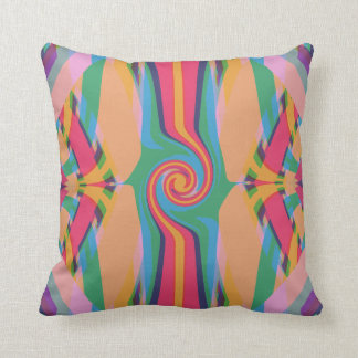Colorful Bizarre Throw Pillow