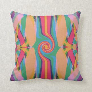 Colorful Bizarre Throw Pillow
