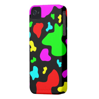 Colorful/Black Cow Print - iPhone 4/4s Case