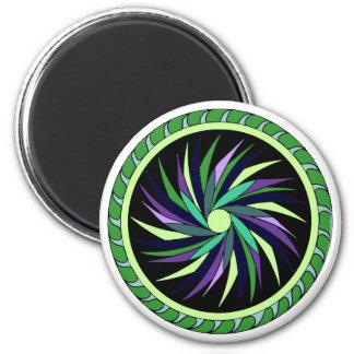 Colorful Black Hole Mandala Refrigerator Magnets