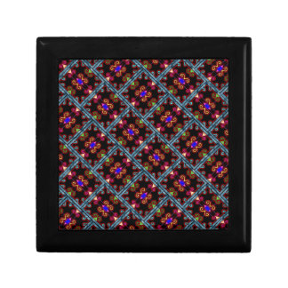 Colorful Black Mexican Style Small Square Gift Box