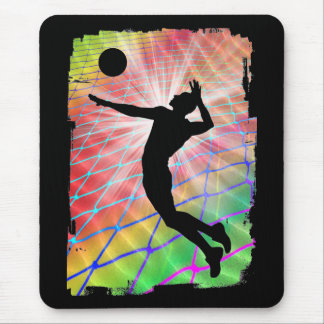 Colorful Blast Beach Volleyball Mouse Mat