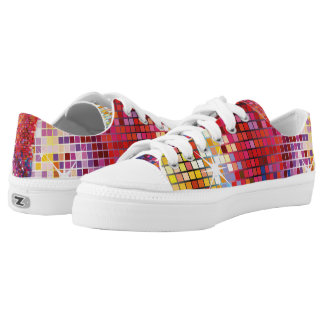 Colorful Bling-Low Top Shoes Printed Shoes