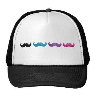 Colorful bling mustache pattern (Faux glitter) Cap