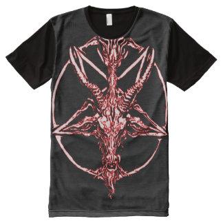 Colorful Blood Baphomet Star Symbol All-Over Print T-Shirt