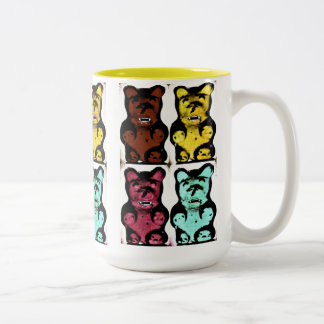Colorful Blood Sucking Gummy Bruins Mugs