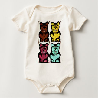 Colorful Blood Sucking Gummy Bruins Baby Bodysuit