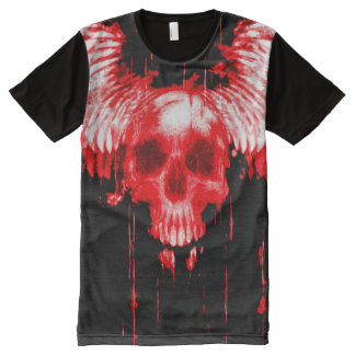 Colorful Bloody Skull Angel Messenger All-Over Print T-Shirt