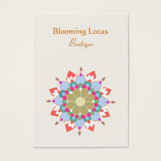 Colorful Blooming Lotus Mandala Business Card