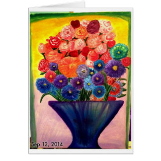 Colorful Blooms design Card