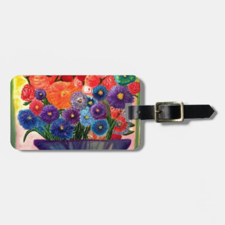 Colorful Blooms design Luggage Tag