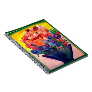 Colorful Blooms design Spiral Notebook