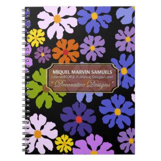 Colorful Blossoms Decor Designer Modern Notebook