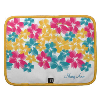 Colorful Blossoms Swirls W Custom Name Planners