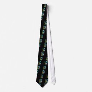 Colorful Blowing Branches Tie