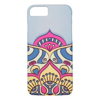 Colorful blue and pink mandala iPhone 8/7 case