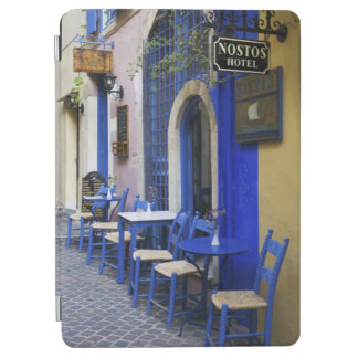 Colorful Blue doorway and siding to old hotel in iPad Air Cover
