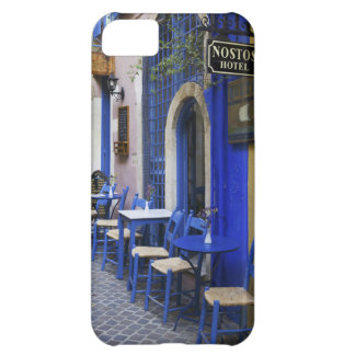 Colorful Blue doorway and siding to old hotel in iPhone 5C Case