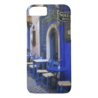 Colorful Blue doorway and siding to old hotel in iPhone 8/7 Case