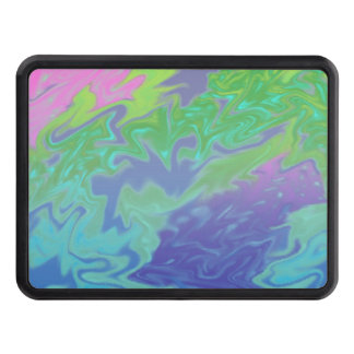 Colorful Blue Green Artistic Abstract Tow Hitch Covers