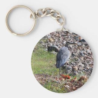 colorful blue heron keychain