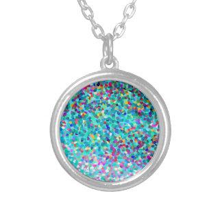 Colorful Blue Multicolored Silver Necklace