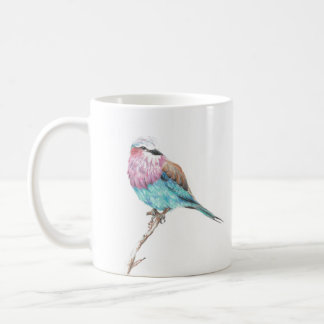 Colorful Blue & Pink Perching Song Bird Coffee Mug