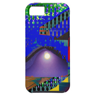 Colorful Blue Purple Moon shine night gifts iPhone 5 Covers