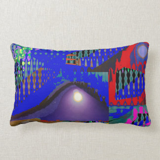 Colorful Blue Purple Moon shine night gifts Throw Cushion