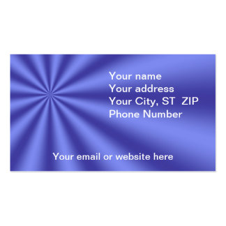 Colorful Blue Starburst Business Cards