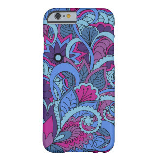 colorful blue zen pattern with sends them barely there iPhone 6 case