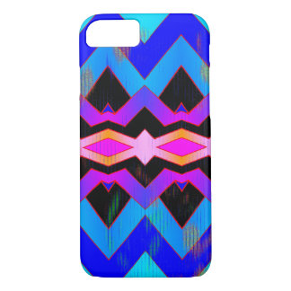 Colorful Blues Purples Magenta Geometric Pattern iPhone 8/7 Case