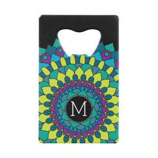 Colorful Bohemian Flower with Custom Monogram