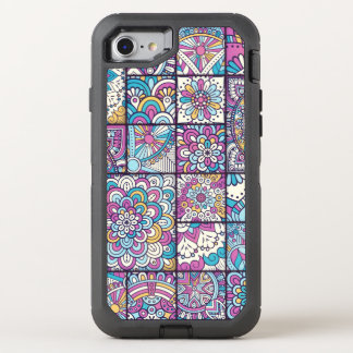 Colorful Bohemian Mandala Patchwork OtterBox Defender iPhone 8/7 Case