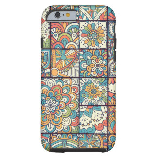 Colorful Bohemian Mandala Patchwork Tough iPhone 6 Case