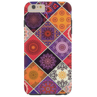 Colorful Bohemian Mandala Patchwork Tough iPhone 6 Plus Case