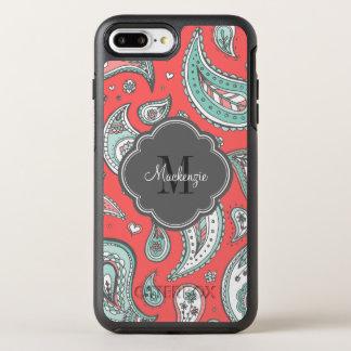 Colorful Bohemian Paisley Monogram OtterBox Symmetry iPhone 8 Plus/7 Plus Case