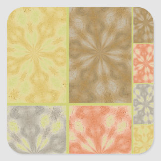 Colorful Bohemian Patchwork Square Sticker