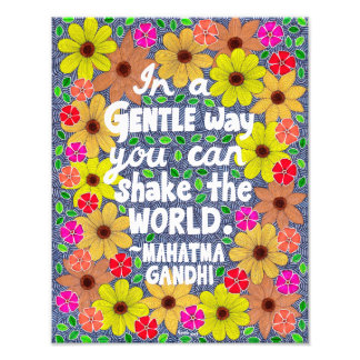 Colorful Bohemian Typography Quote Doodle Photo Print