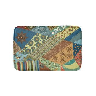 Colorful BoHo Chic Quilt Design Bath Mats