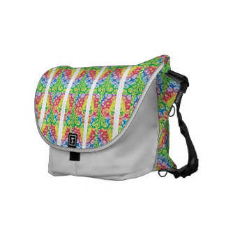 Colorful Boho in bright multicolours. Messenger Bags