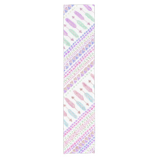 Colorful Boho Tribal Aztec Feather Arrows Pattern