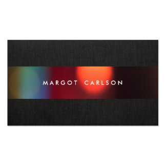 Colorful Bokeh Black Party and Event Coordinator Pack Of Standard Business Cards