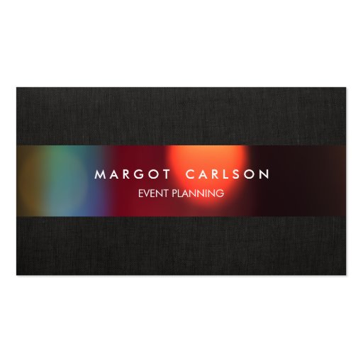 Colorful Bokeh Event Planner and Entertainment Business Cards